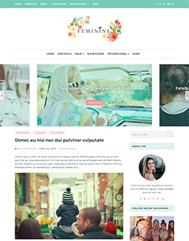 Feminine WordPress Theme For Fashion, Lifestyle, Travel and Beauty Bloggers